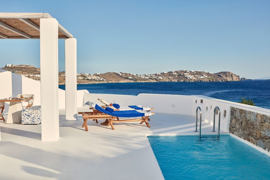 Katikies Mykonos, one of 15 stylish boutique hotels with pool in Greece