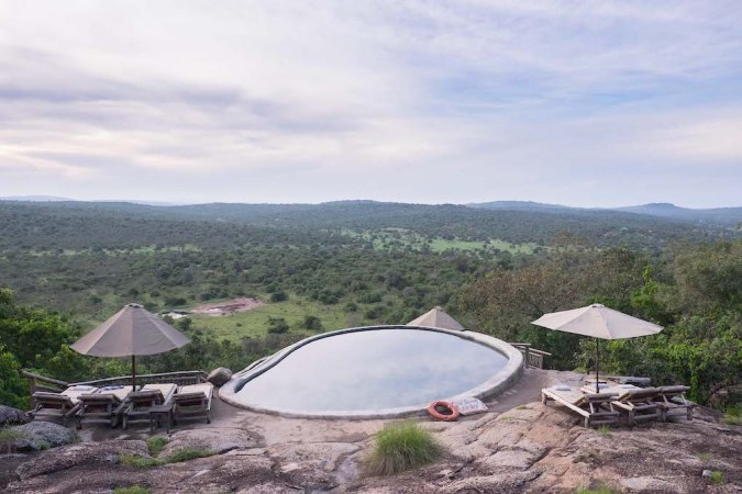 Luxury lodges in Uganda, one of the best hotel with pool where travel bloggers have stayed