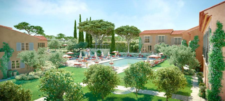Hotel Lou Pinet, one of the new luxury hotels opening in 2019. Five star hotel opening in Saint Tropez in May 2019.