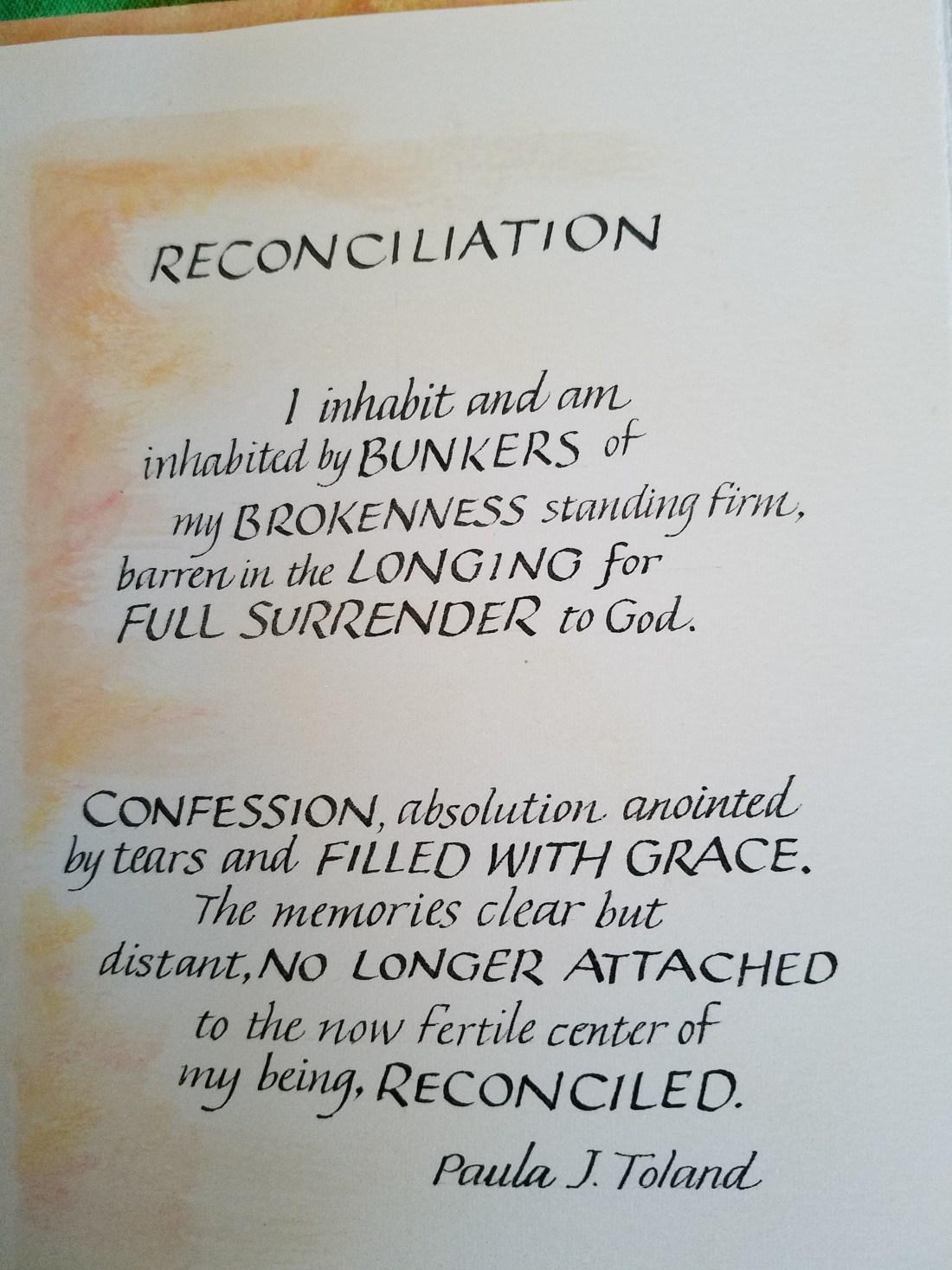 Poem on reconciliation
