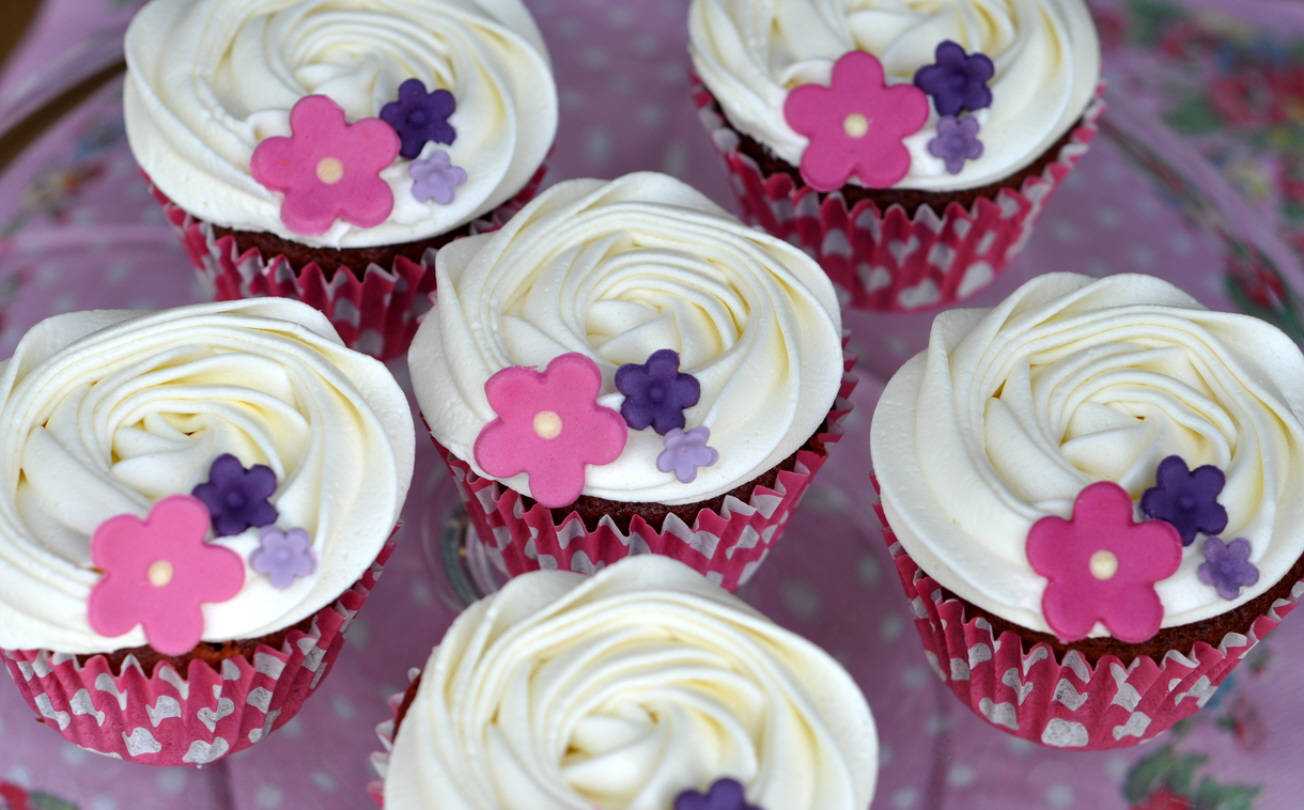 New English Rose Cupcakes