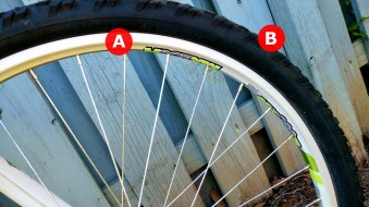 A) Rim: This is the hard circular part of the wheel where you will find your valve, where one end of your spokes attach, and finally where your tires wrap around. B) Tire: I could write a whole post about tires, the main thing here is you need the right type for your style of riding, where you're riding, wheel size, and whether you need tubes or not.