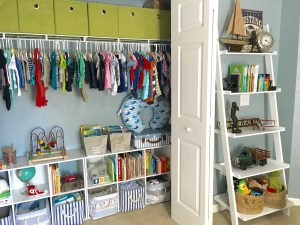 Nursery Closet Organization by From Under a Palm Tree