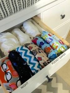 Nursery Dresser Organization by From Under Palm Tree