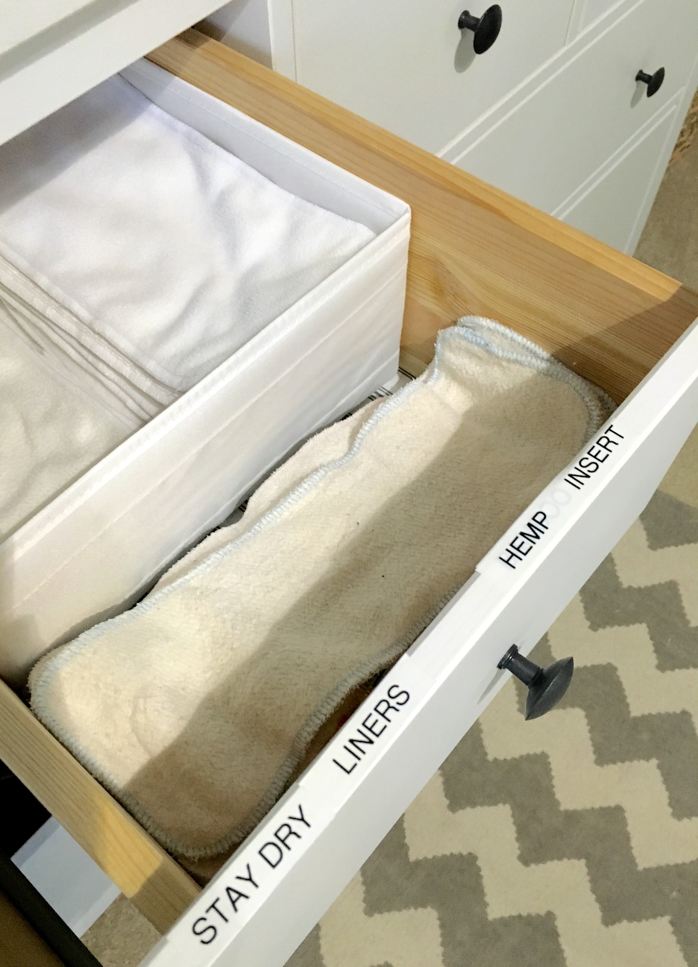 Nursery Dresser Organization | dresser organization | nursery | nursery dresser | baby | baby organization | Ikea dresser | how to organize a baby's dresser | nursery decor | baby decor