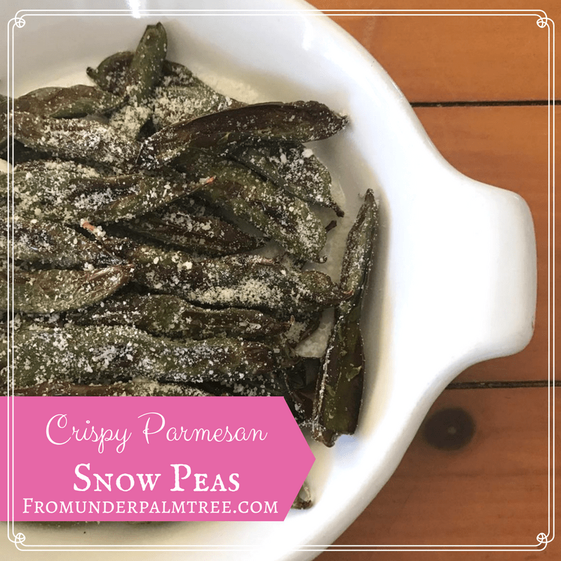 Crispy Parmesan Snow Peas by From Under a Palm Tree