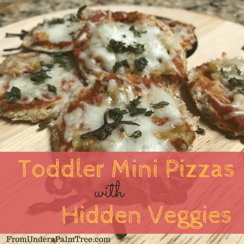 Toddler Mini Pizzas with Hidden Veggies