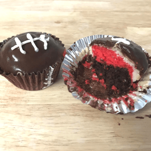 Superbowl Team Cupcakes by From Under a Palm Tree
