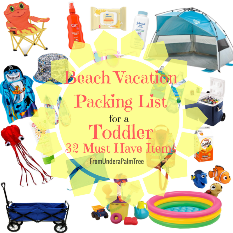 Beach Vacation Packing List for a Toddler | Beach Vacation with toddlers | Packing for Beach Vacation | Beach Vacation checklist | Captiva Island | Florida Beach Vacation | With Toddlers | With kids | with babies | beach vacation packing list | Free Printable |