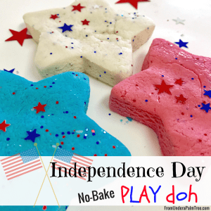 Independence Day No-Bake Playdoh