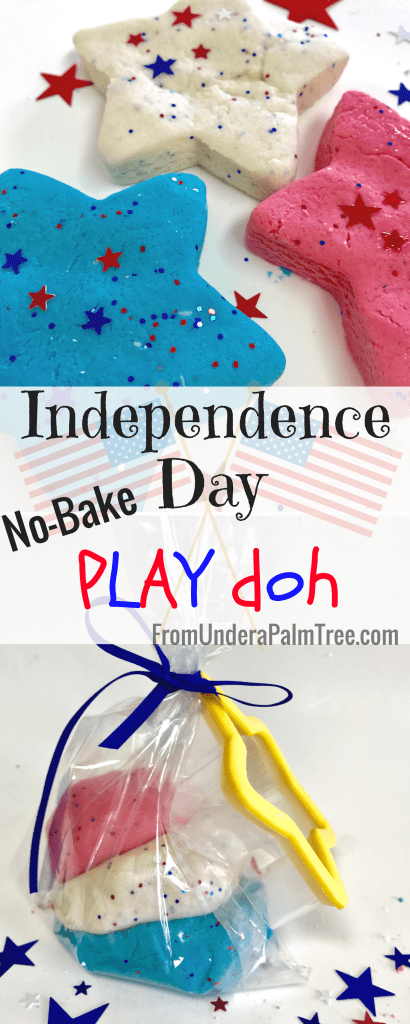 Independence Day Playdoh | Homemade Play Dough recipe | DIY Play Dough | Play dough recipe | activities with toddlers | kid-friendly DIY | DIY | kid-friendly | Toddler Friendly | non-toxic | sensory play | toddler sensory |