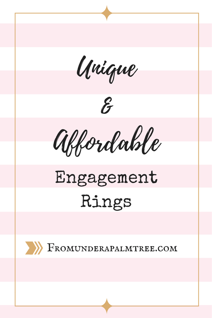 Unique and Affordable Engagement Rings by From Under a Palm Tree