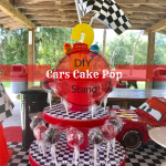 Diy Cars Theme Cake Pop Stand From Under A Palm Tree