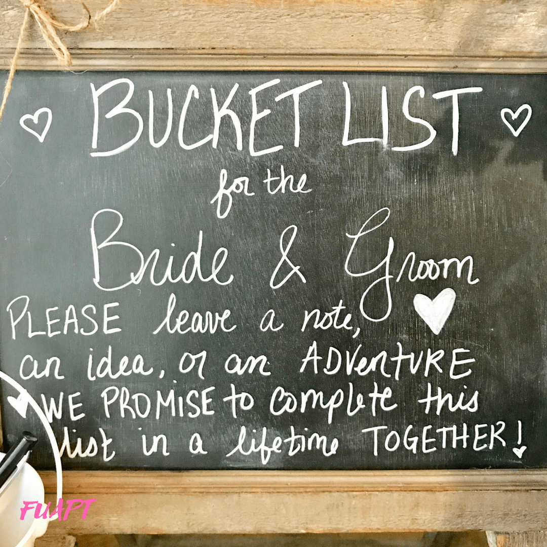 bride groom bucket list how to make a bride and groom bucket list