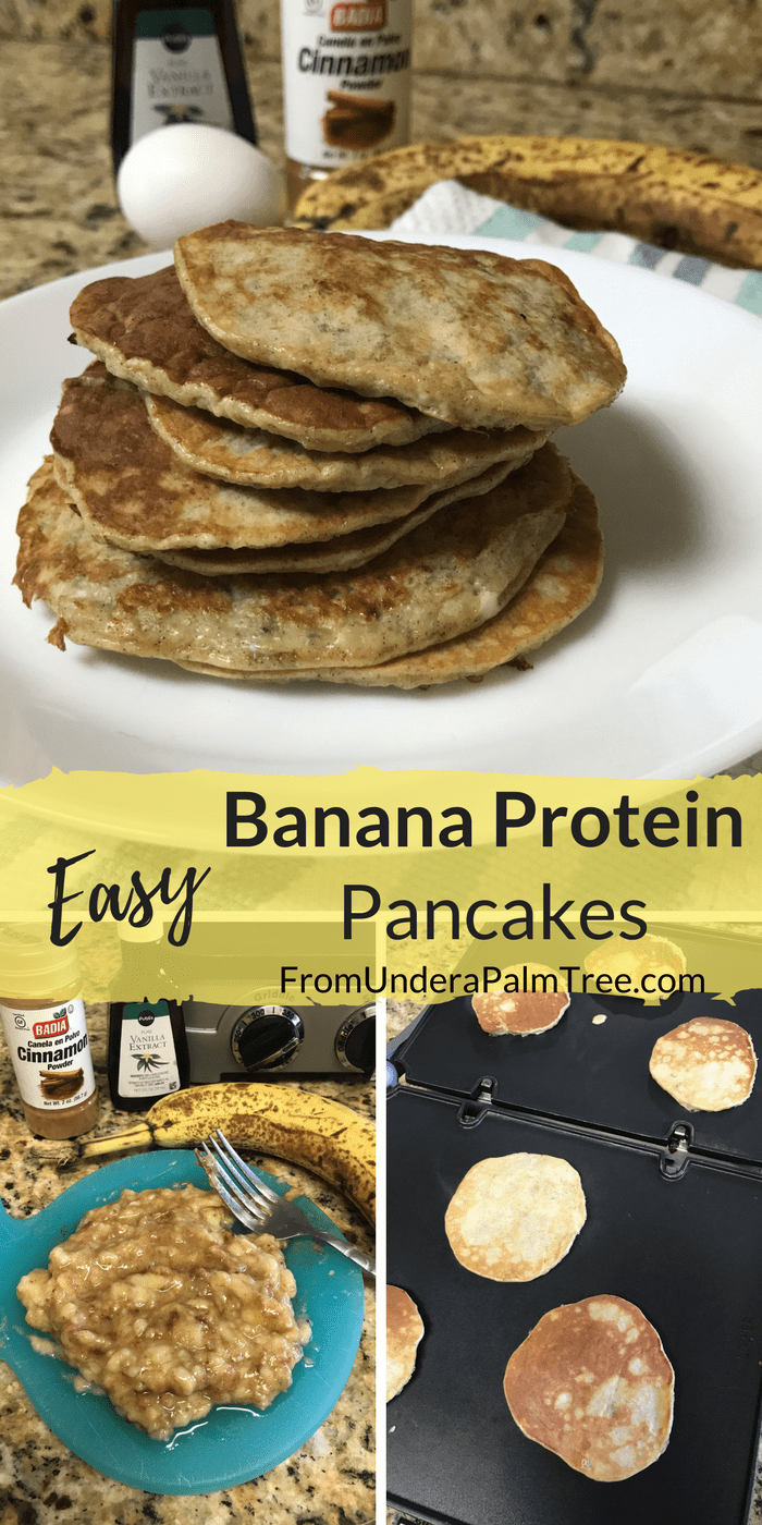 Easy Banana Protein Pancakes | easy toddler meals | easy toddler breakfast ideas | easy toddler food | baby food | baby led weaning | baby led weaning meal ideas | breakfast ideas for kids | breakfast ideas for toddlers | breakfast recipes | pancake recipes | protein pancakes | banana | banana pancakes |