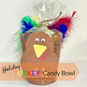 Holiday Turkey Candy Bowl