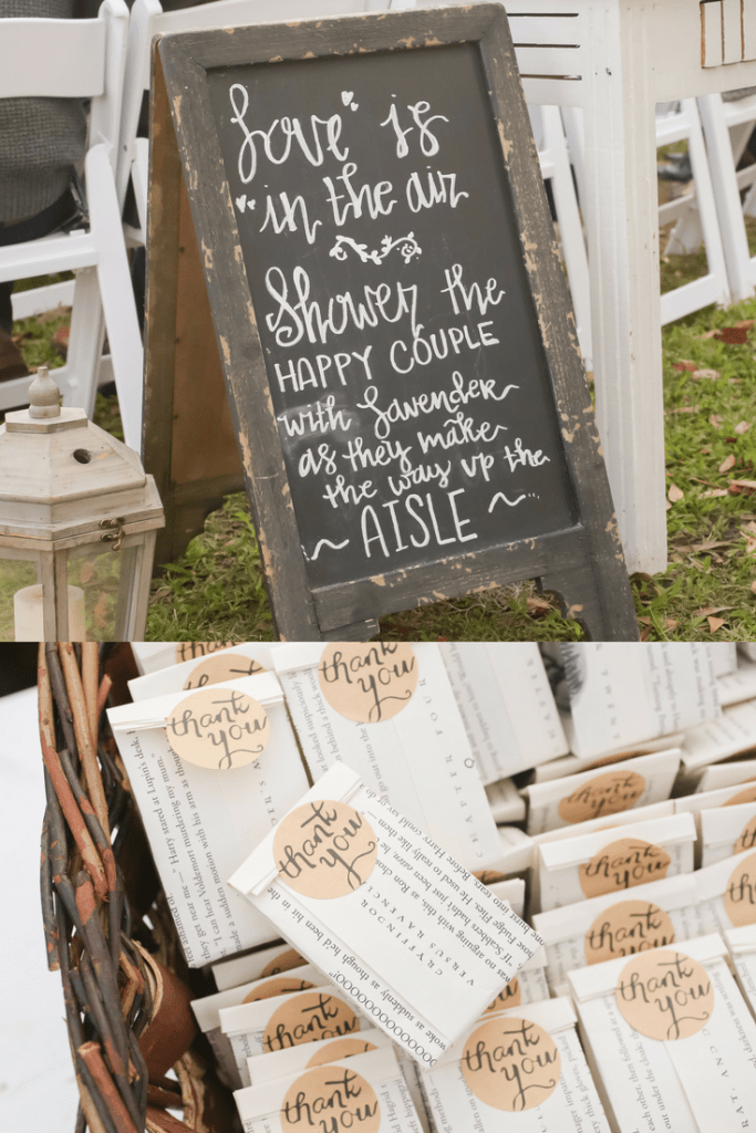 How to make a wedding eco-friendly | Ways to Make your Wedding Eco-friendly | Eco-friendly | green wedding | eco | vintage | vintage wedding | recycle | reduce | reuse | lavender toss | chalkboard program | program alternatives | ceremony | program | send off | mason jar favors | eco-friendly favors | Nerdy Rustic Barn Wedding | Cranberry | pink | gold | Reception | Woodland | Old McMickey's Farm | The Barn at Crescent Lake | ideas | Wood slices | Rustic | Big Day | outdoor | barn |