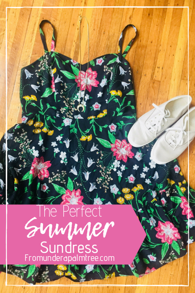 The Perfect Summer Sundress | Summer Sundress Outfit | The perfect sundress | Summer | Sundress | Fit & Flare Dress | Dress | beach | short | Color | Floral | spaghetti strap | Old Navy | shape | Lifestyle |
