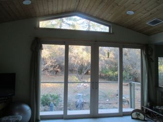 Backyard thru Bedroom window