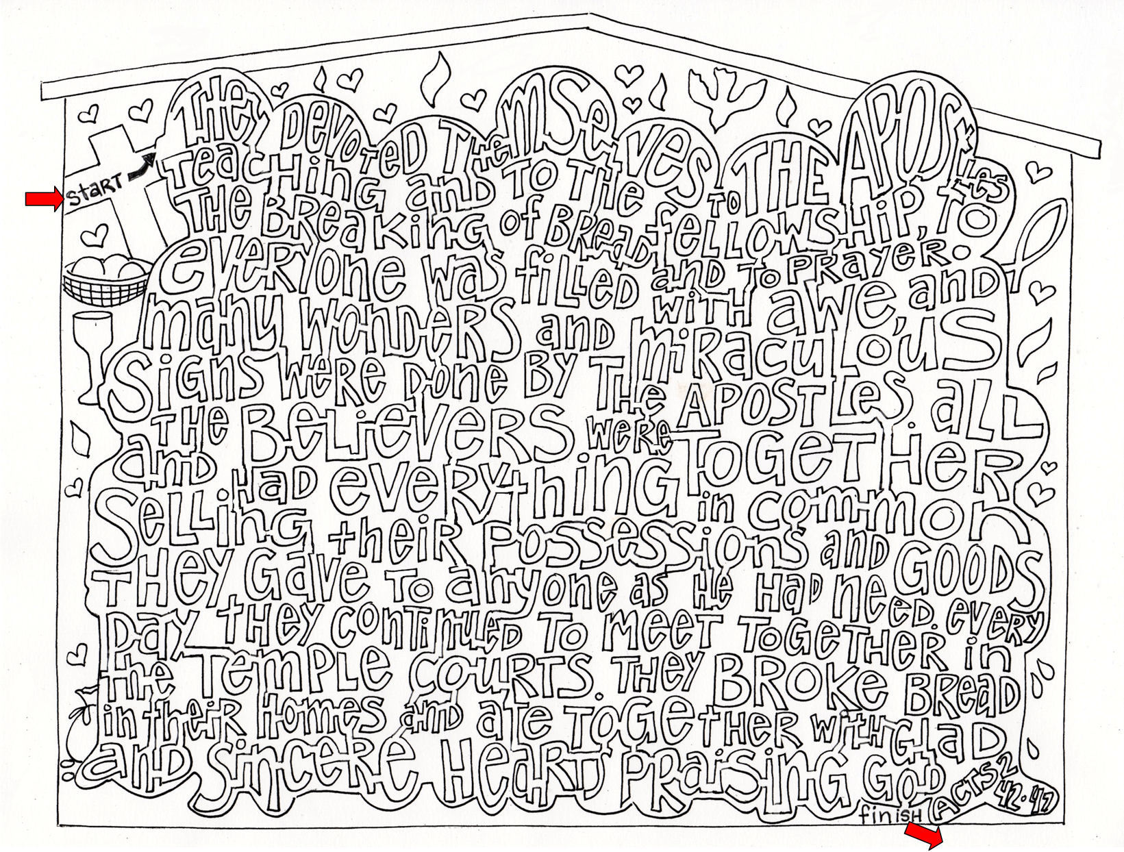 Sunday Scripture Coloring Page Maze From Victory Road