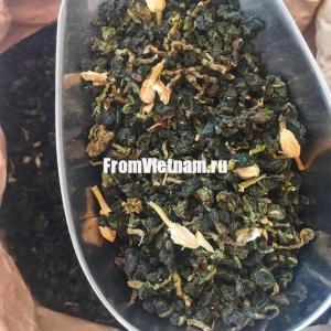 Зелёный Чай Улун (Оолонг) Жасмин АльфаВьет 100г
