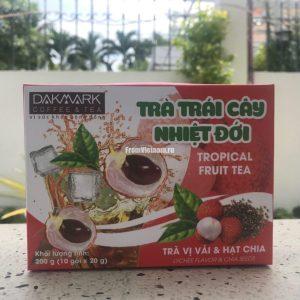 Фруктовый чай с Личи и семенами Чиа Dakmark 10 пакетиков
