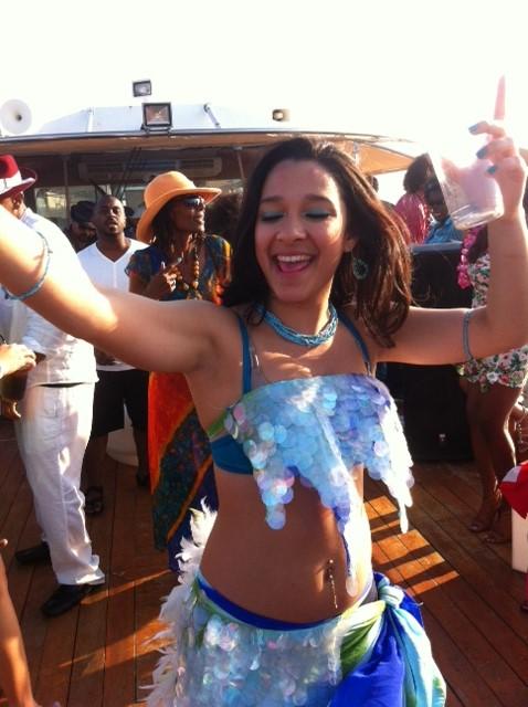 Caribbean carnival attire