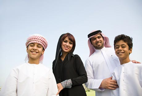 Typical Emirati Family