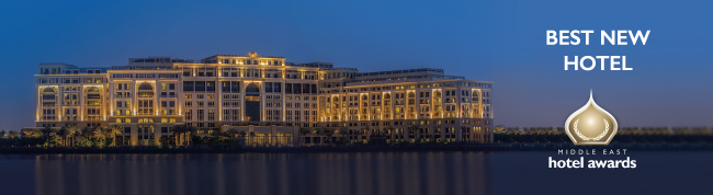 Exterior view of Palazzo Versace Dubai. Photo credit: Palazzo Versace Dubai, Markeitng & Communications.
