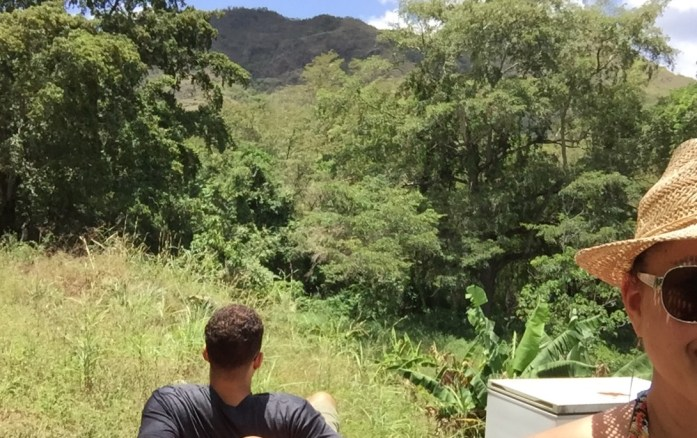 Summer. Puerto Rico's mountain view