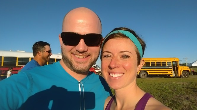 Jesse and Kelly Sandhills 1:2 marathon 2015 Buses