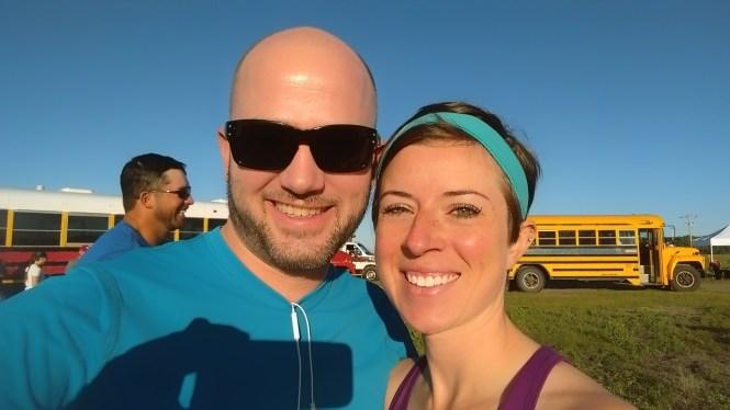 Jesse and Kelly Sandhills 1:2 marathon 2015 Buses