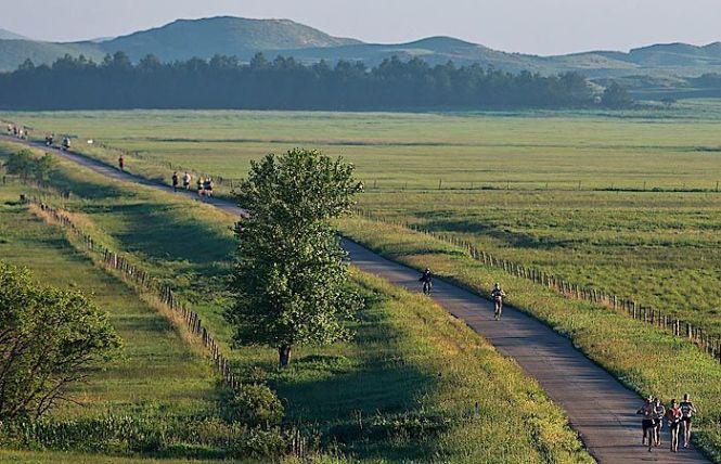 Sandhills Marathon Runners on Brownlee Road, by CHRIS MACHIAN:THE WORLD-HERALD