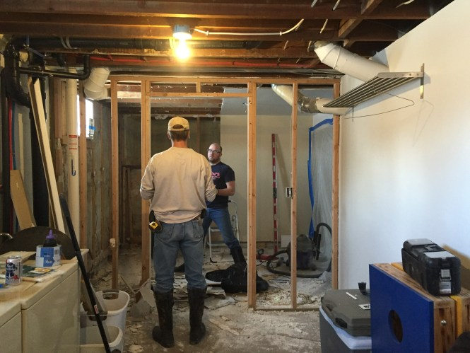 Demoed walls into laundry room