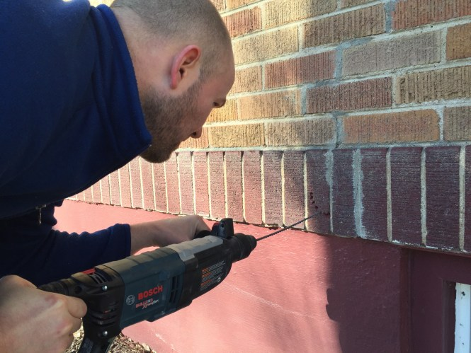 Hammer Drill to Cut Hole in Brick