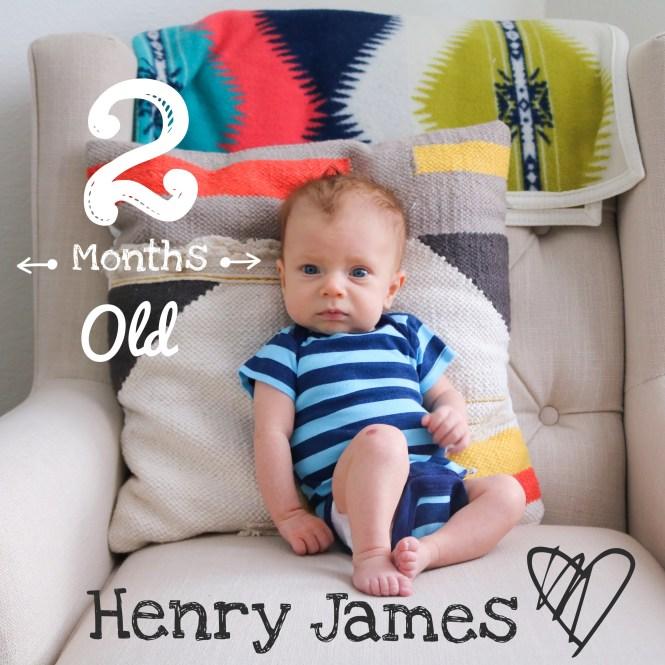 Henry James 2 Months Old