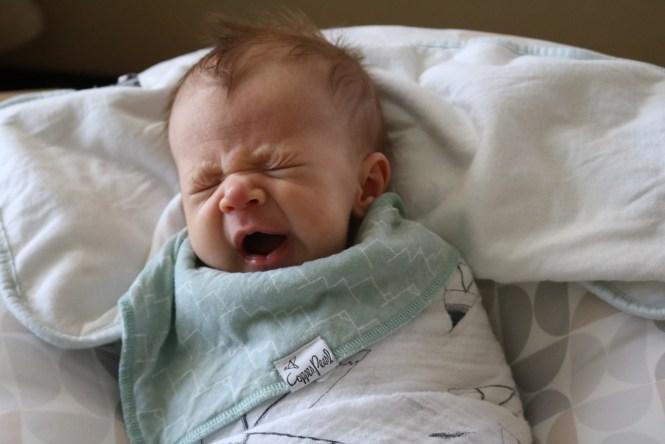 Baby Henry James yawning