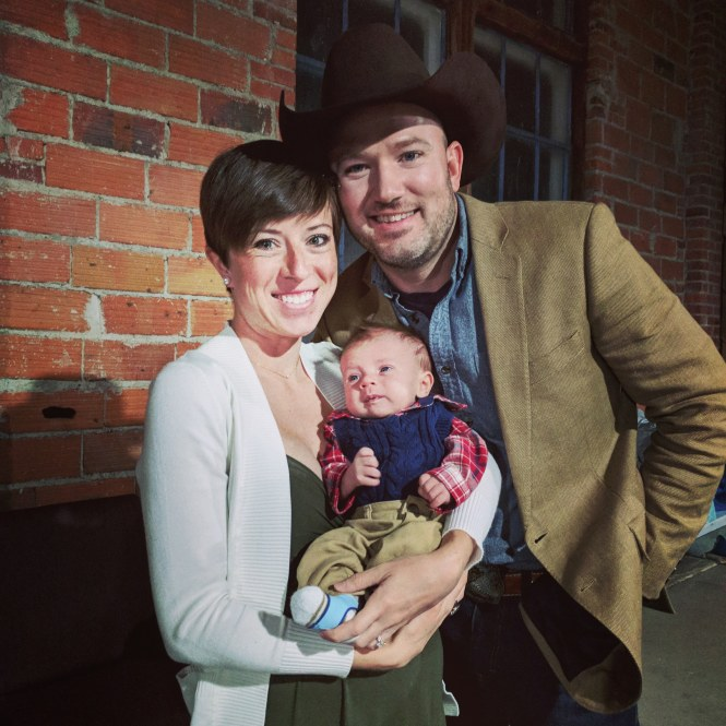 Jesse, Kelly, and Baby Henry at McVey Wedding