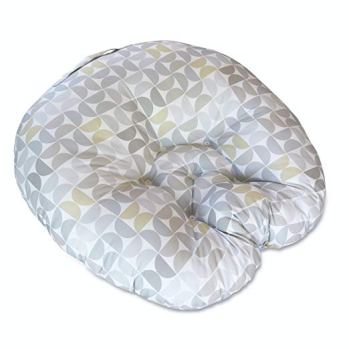 Boppy Lounger Pillow Gray Yellow Taupe