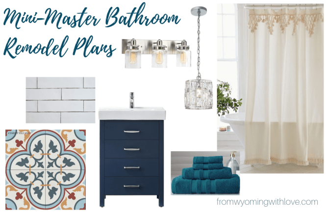 Mini Master Bathroom Remodel Plans- Mood Board