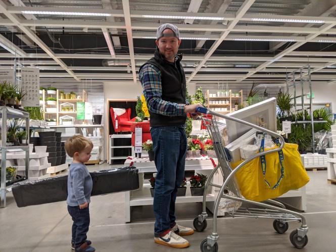 Jesse and Henry IKEA trip