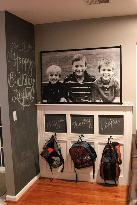 Small Entryway Backpack Wall - I'm Batmom