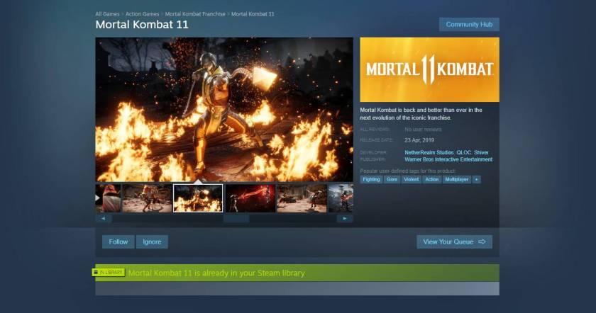 Mortal Kombat 11 (MK11) - Download Size - Frondtech