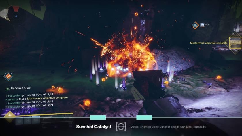 Destiny 2 - How to get Sun Blast kills and Masterwork or upgrade