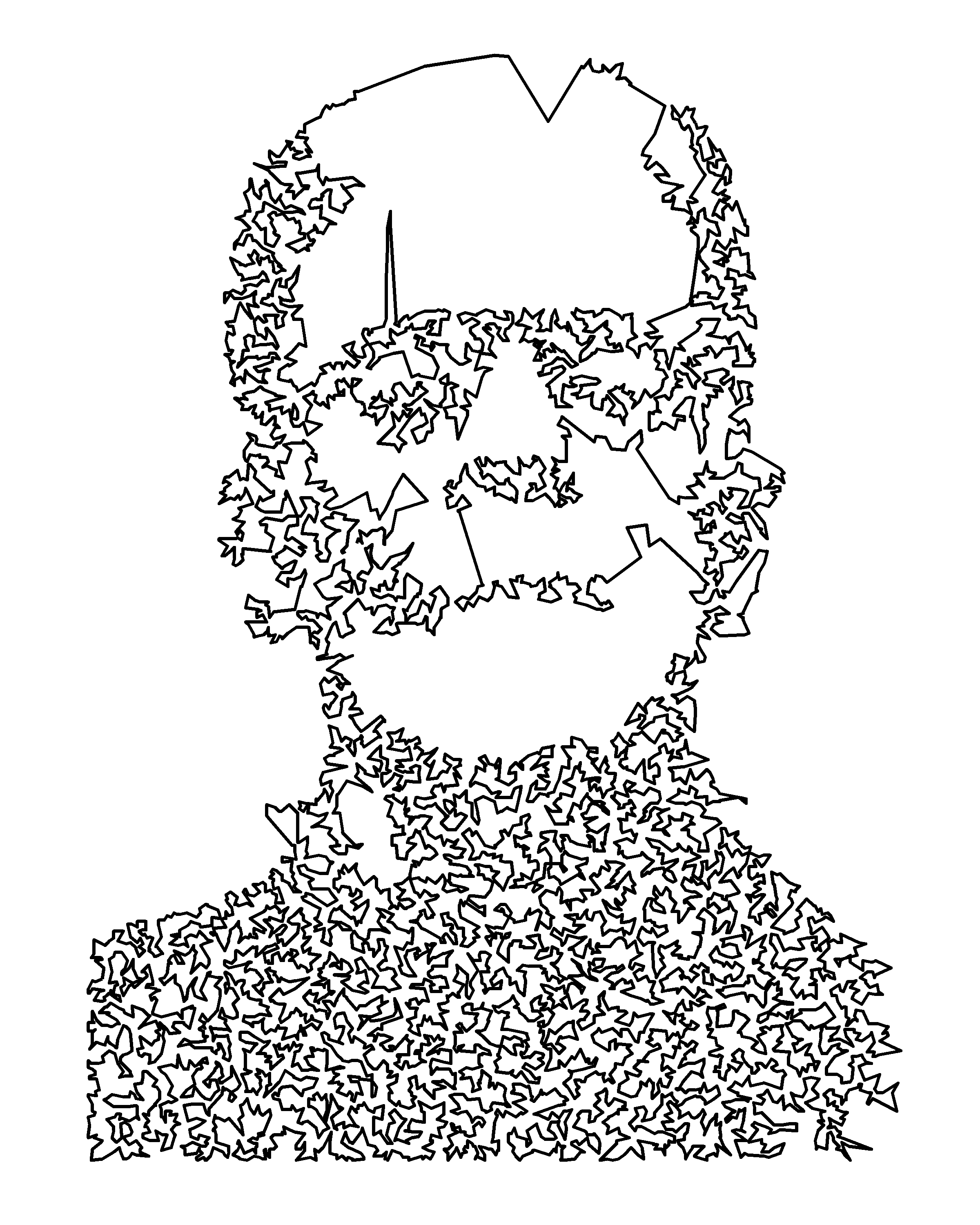 Traveling Salesman Portrait In Python Dr Randal S Olson