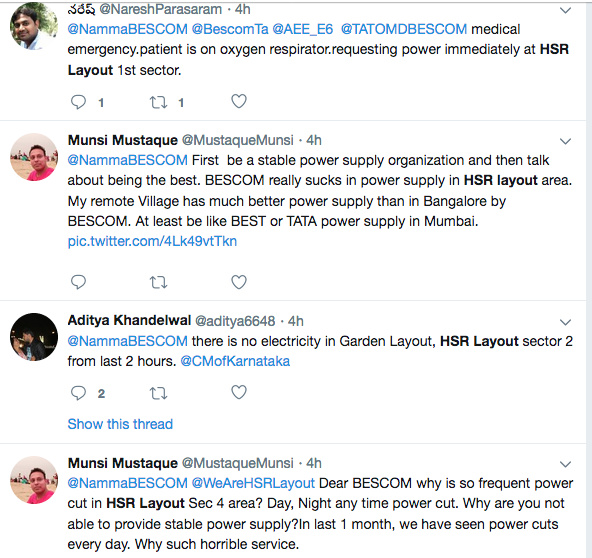Twitterati erupts over Bescom's frequent power cuts in HSR
