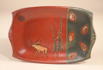 Moose Motif in Green