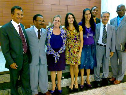 Pastor Mesquita, o casal pastor Valcir-Ritinha, jovens baianos e pastores Jamiel e Joselito