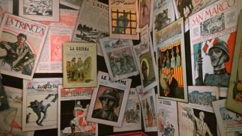 Copertine di giornali di trincea