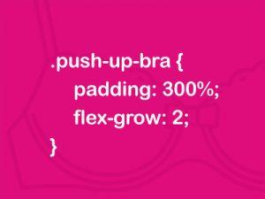 Push up bra code pun